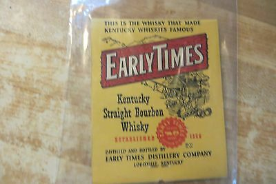 huge advertising souvenir EARLY TIMES EVERY MANS WHISKEY MATCHBOOK  EST.1866