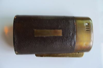scarce BRASS ADVERTISING TABLE LIGHTER PEOPLES BEER & ALE,Oshkosh Brewing CO