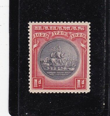 BAHAMAS #85 MNH 1p RED & BLACK SEAL OF BAHAMAS