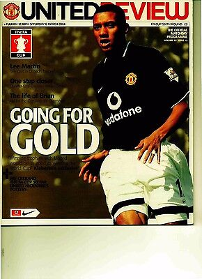 Manchester United v Fulham 2003/04 FA Cup 6th round