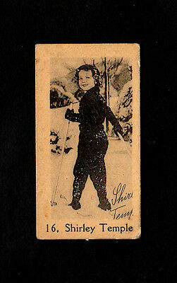 """Anonymous -- Intriguing ( Film Star ) Type Card """" # 16 Shirley Temple """""""