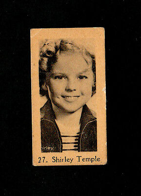 """Anonymous -- Intriguing Scarcer ( Film Star ) Type Card """" # 27 Shirley Temple """""""