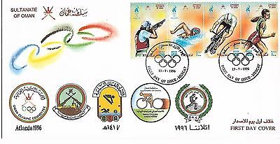 Oman 1996 Olympic Games FDC