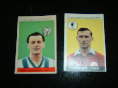 A & BC 1958-59 football cards x 2 Series One