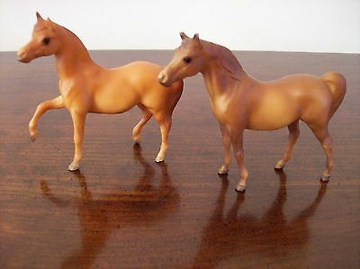 "Pair of Breyer Miniature 3"" Toy Horses  1975 & 1976"