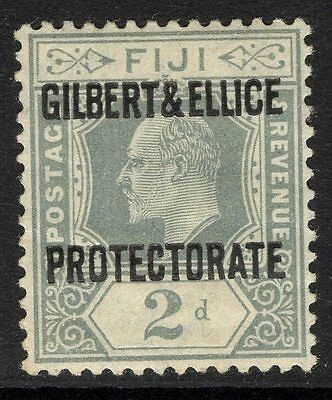 GILBERT & ELLICE IS. SG3 1911 2d GREY MTD MINT