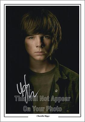 The Walking Dead Carl, Chandler Riggs Signed Photo, 1st Generation Pre-Print A4