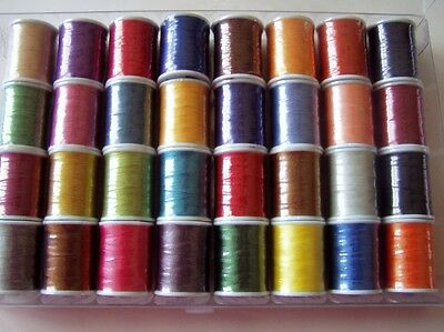"""32 spools Rod smith Rod building thread size """"A"""" by Pac Bay"""
