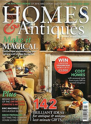 Homes and Antiques magazine. January 2017. Brand new