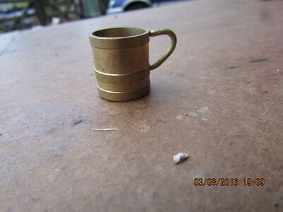 Dolls house accessories one brass tankard Vintage
