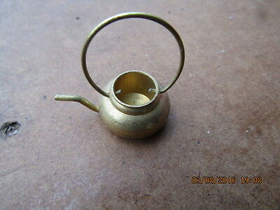 Dolls house one brass kettle  accessories Vintage