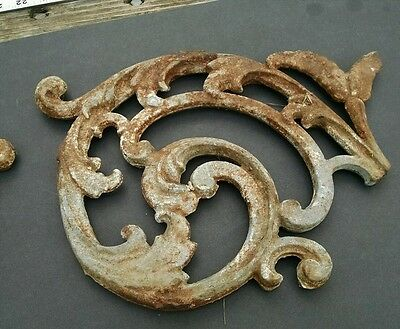 4 piece Antique Iron Decorative Architectural Scroll from Charleston SC Cemetery