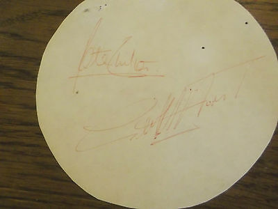 Card Signed By 1966 World Cup Hat Trick Hero Geoff Hurst Plus Peter Shilton