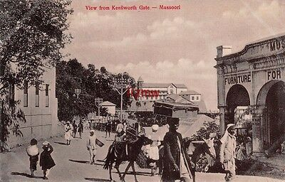 India Mussoorie View From Kenilworth Gate Along The Mall Furniture Printed Card