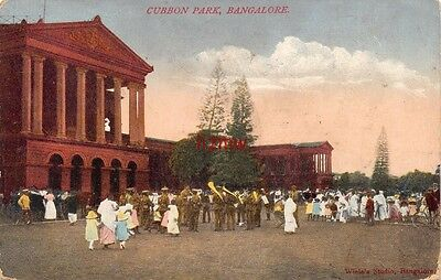 India Bangalore Cubbon Park People Listen To Military Band Printed Card