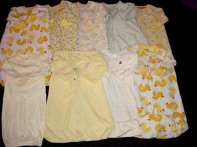 Used Baby Neutral Unisex 0-3 0-9 Months Sleepsack Gown Boy Girl Clothes Lot
