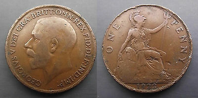 0240 Great Britain George V Penny 1922