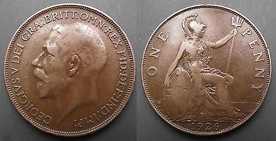 0241 Great Britain George V Penny 1926