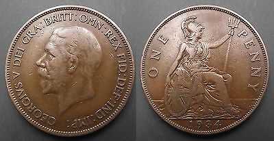 0247 Great Britain George V Penny 1934
