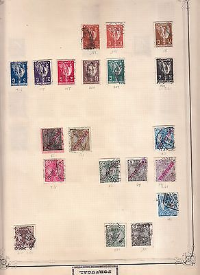 4 Pages Early Portugal Values Mint/used From Huge Minkus Album Part 2