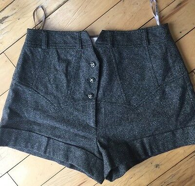Ladies River  Island Tweed Shorts Size 14