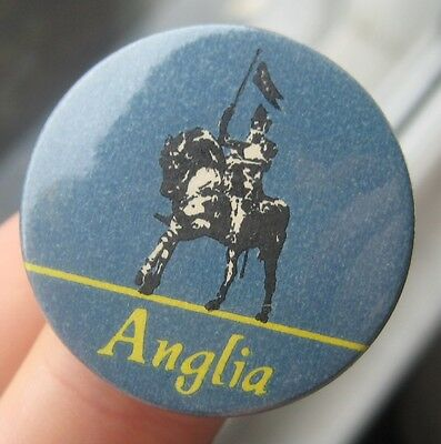 ANGLIA TELEVISION vintage 1960s childrens advertising tin pin BADGE freeUKpost