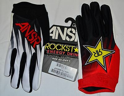 ANSWER Racing ROCKSTAR red Black Gloves adult XL offroad MX motocross