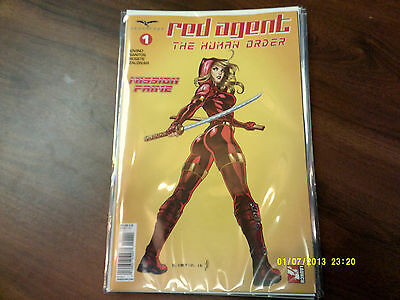 Zenescope Red Agent The Human Order 1 Cover A  Near Mint & 1St Print