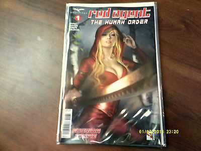 Zenescope Red Agent The Human Order 1 Cover C  Near Mint & 1St Print