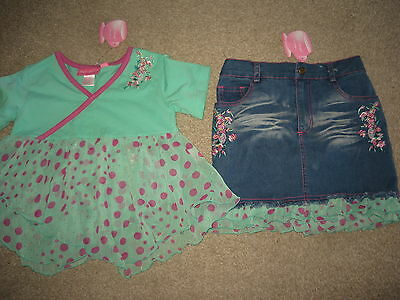 Nwt Chit-Chat Girls 2 Pc Set/outfit Incl.skirt & Top,age 6