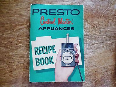 1965 National Presto Control Master Appliances Advertising Recipe Cookbook