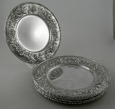 Sterling S. Kirk & Son REPOUSSE 128 bread plates (set of 6)