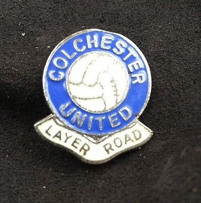 Old Colchester United Football Club Layer Road Vintage Original Gomm Badge