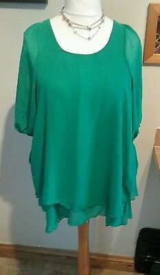 green new look generation floaty top size 14 maternity 8
