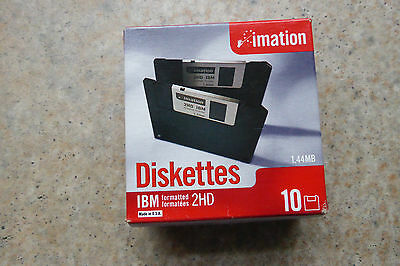 "10x Imation Floppy discs 3,5"" Floppy Disk HD-MF2 1,44 MB DOS formatted Diskettes"