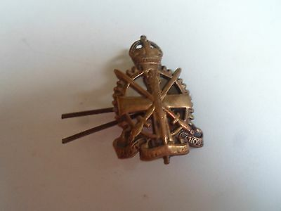 Vintage Brass Army School Apprentice Cap Badge With Pin