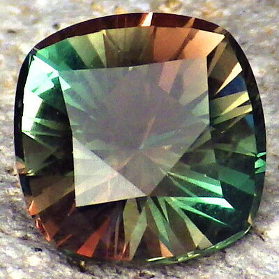 "PEACOCK BLUE GREEN-ORANGE ""MYSTIQUE"" OREGON SUNSTONE 2.47Ct FLAWLESS-TOP INVESTM"