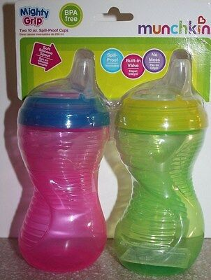 NEW Munchkin Mighty Grip 10 oz. Spill Proof Sippy Cups BPA Free