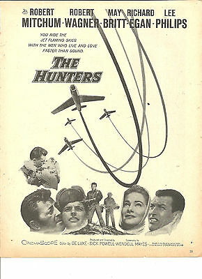 Robert Mitchum, The Hunters, Full Page Promotional Ad, Robert Wagner