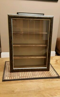 small wall mounted display cabinet