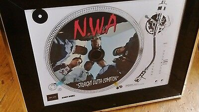 Framed NWA display cd  record Deck   Dr dre ice cube eazy e