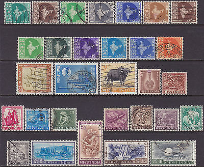 India 1957-1975 Definitive & Commemorative Used 1np-10r Stamps