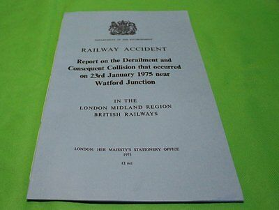Railway Accident Report Derailment & Collision Watford Junction  January 1975
