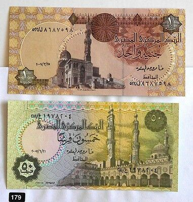 Egypt Set Of 2 Unc Banknotes!!!  Combine Shipping!!!