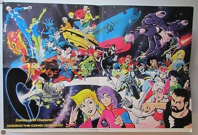 Comico Comics Store Display Poster, 1986 w/Jonny Quest, Mage, Robotech, Grendel