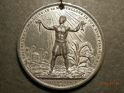 1834 ABOLITION of SLAVERY in the BRITISH EMPIRE RARE MEDAL SUPERB SHAPE C364