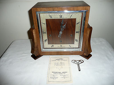 Bravingtons Renown, Whittington / Westminster Chimes Mantle Clock. Excellent