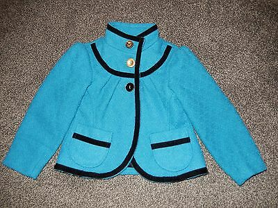 Girls Blue/turquoise Dressy Coat Age 2 Years Little Miss Real Vgc