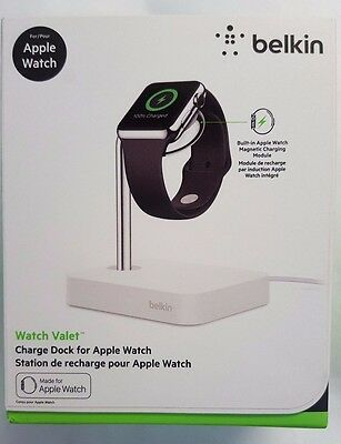 NEW - Belkin Watch Valet Charge Dock for Apple Watch 38 mm & 42 mm - White
