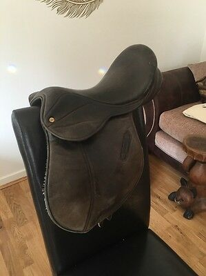 15 Inch Brown English Leather Loriner Pony Saddle Medium Width